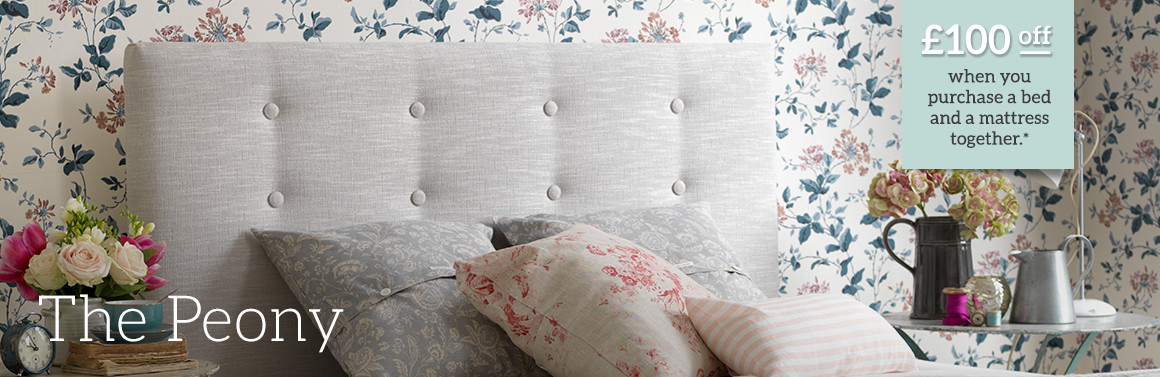 Peony Upholstered Bed
