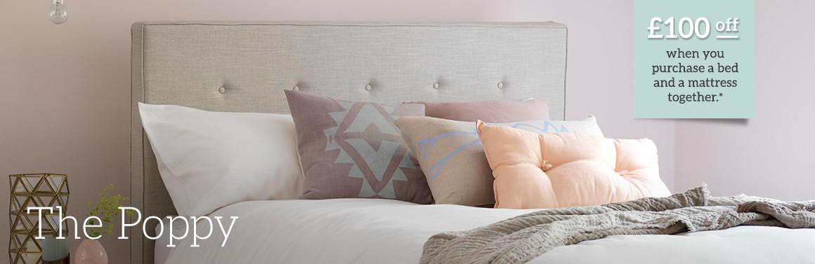 Poppy Upholstered Bed