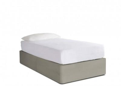 e76b4188d664 Upholstered Single Divan Bed   Button & Sprung