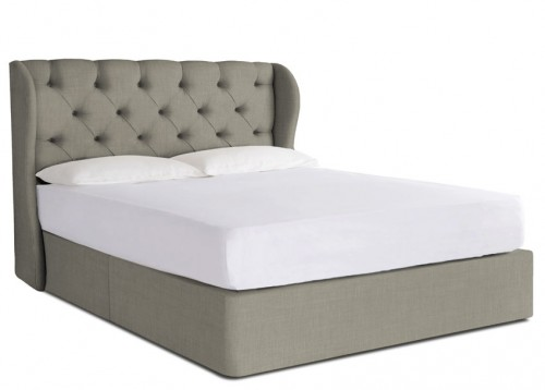 Camelia super king divan bed button sprung for Super king size divan bed and mattress
