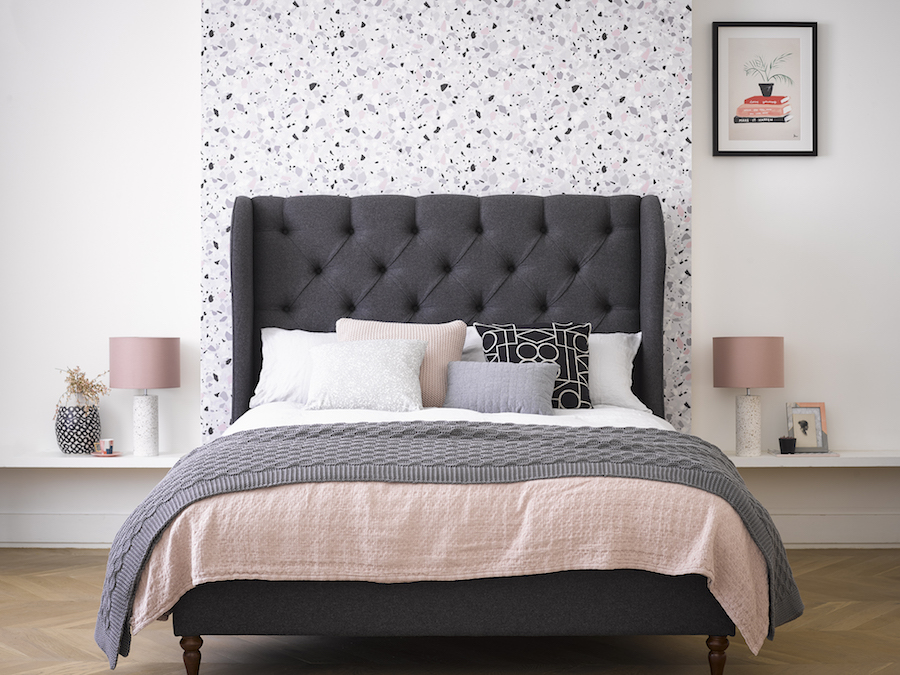 Get The Look: Camelia Bed Frame in Slate